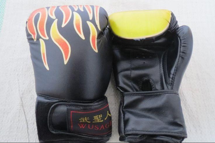 2014 боксерские перчатки взрослый ребенок боксерские перчатки черный горячая распродажа