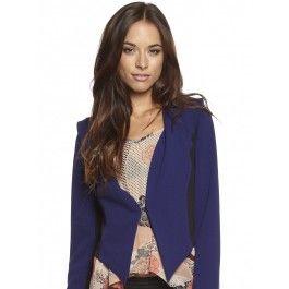 Womens Cobalt Blue Allanah Contrast Blazer by Lulu & Rose.