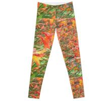 Waves of Montbretia: Leggings - available to buy from Redbubble