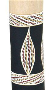Dhapa Ganambarr Yidaki (2482) Key: C# Length: 155cm Weight: 2.3kg Timber: Eucalyptus Stringybark Mouthpiece: Natural Timber 1st Toots F Mouth inner diameter 38mm Bell inner diameter 64mm