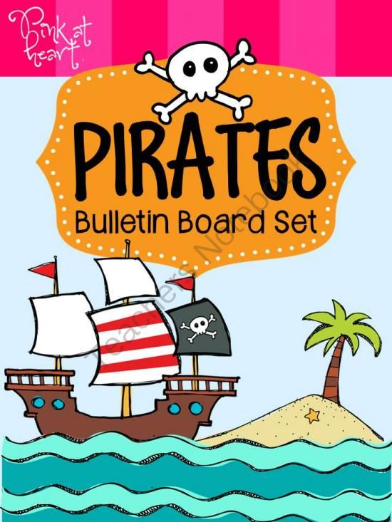 Pirates Bulletin Board Set from Pink at Heart on TeachersNotebook.com -  (46 pages)  - PDF - Awesome Pirate-themed bulletin board!