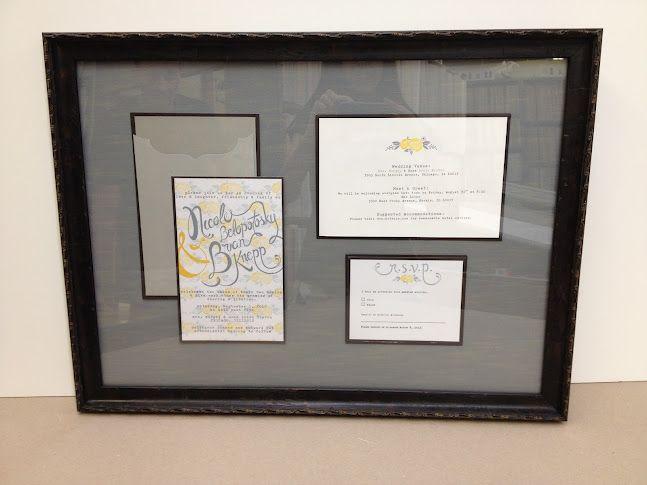 Wedding Invitation Frames: 17 Best Ideas About Framed Wedding Invitations On