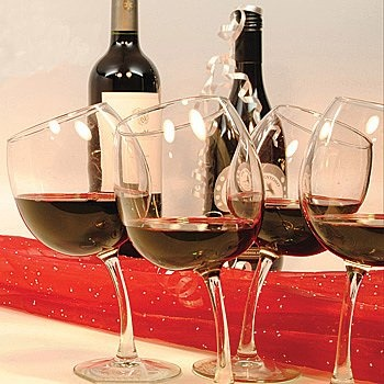 Tipsy wine glasses!
