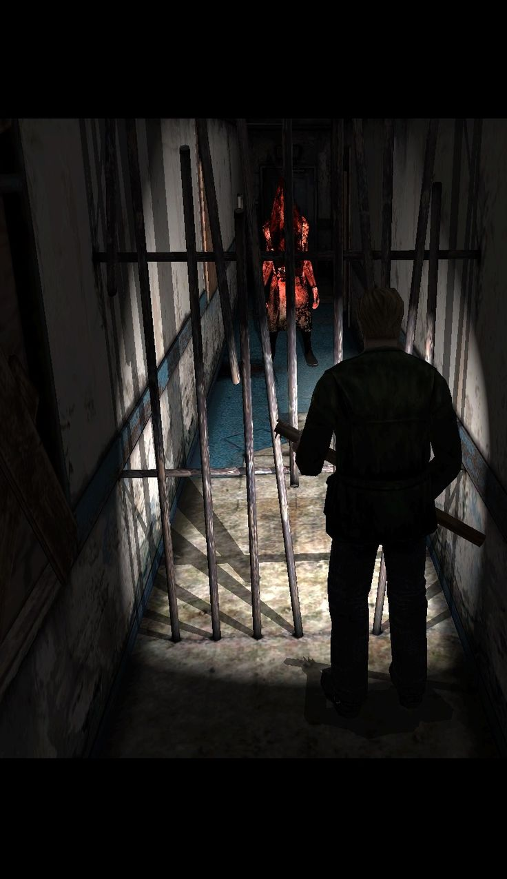 Silent Hill 2 - Red Pyramid Head - The iron bar symbolize mirror, it reflect James as Pyramid Head.