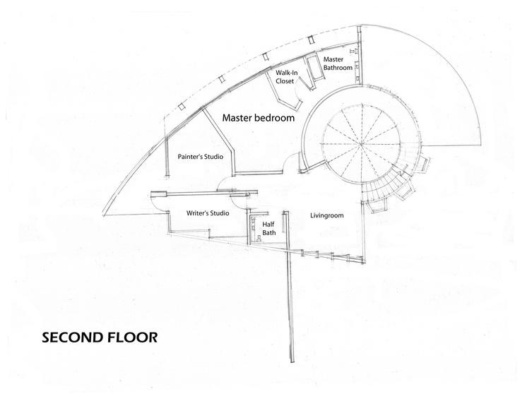 Nautilus house second floor plans by hugo s rosas rello for Nautilus garden designs