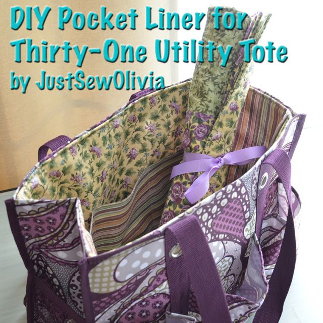 JustSewOlivia: Thirty-One Utility Tote Liner