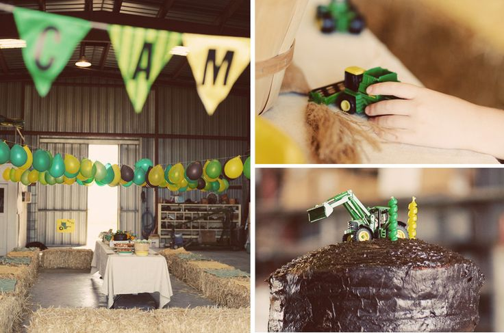 John Deere Tractor Party!! Any little boy/girl that loves tractors would be in heaven with this one.