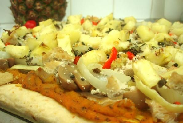 Mushroom Pizza Crazies w/ Pumpkin Sauce | VegWeb.com, The World's Largest Collection of Vegetarian Recipes