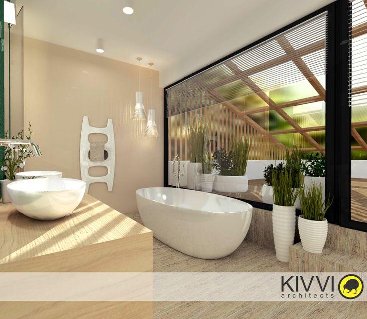 Návrh interiéru kúpeľne. Interiérový dizajn od Kivvi architects_Bathroom interior  www.kivvi.sk
