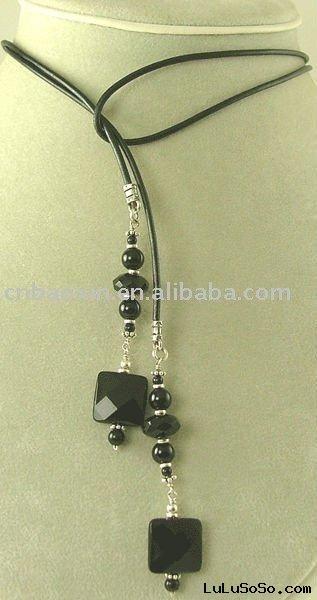 Leather Lariat Necklace | Shop Necklaces & Pendants