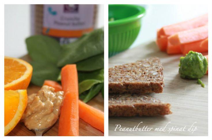 Du får den lækreste dip ved at blende en håndfuld spinatblade, saften fra 1/2 appelsin med 3-4 spsk peanutbutter.  Voilá, smørepålæg til vegetaren,oven på et stykker ristet rugbrød gør den over underværker. Eller brug den som dip til grøntsager.