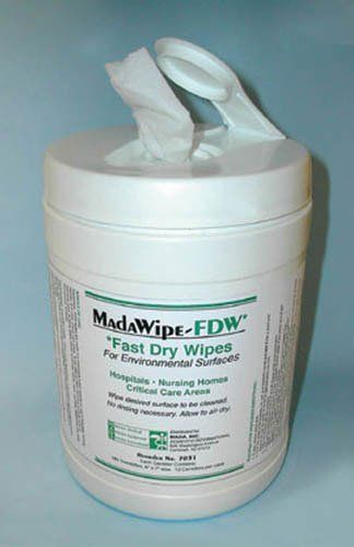 MadaCide FDW / Wipes Tub/160 by Physician Supplies. $15.65. Allow to air dry. For environmental surfaces. Contains: Isopropyl Alcohol 2-Butoxyethanol cationic surfactant and water. In hospitals nursing homes and critical care areas
