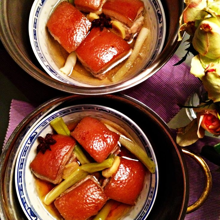 Red braised pork belly, a famous Chinese dish and here you find an easy recipe