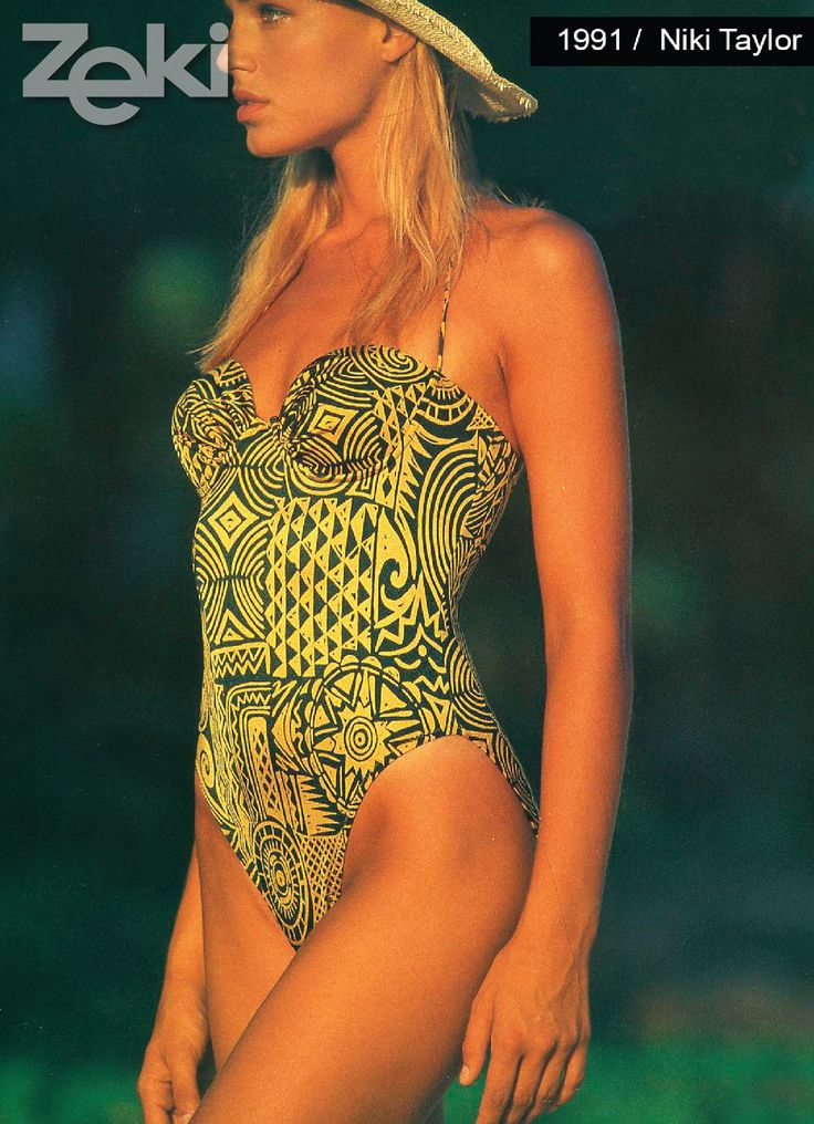 Niki Taylor was the model of Zeki Triko in 1991.