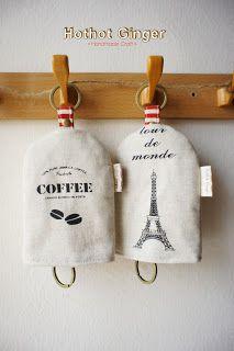 Hothot Ginger ♥ Handmade Craft 手作杂货: Zakka Fu Key Holder // 杂货风 钥匙包