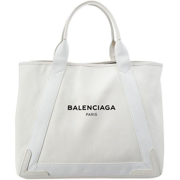 Balenciaga Navy Cabas M Medium Denim Tote 880 Liked On Polyvore Featuring Bags Handbags White Blue Bag Purse W