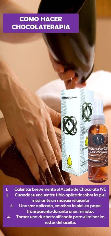 El Aceite de Chocolate JYE actúa como nutriente y antioxidante al aplicarlo sobre la piel. Mediante masajes facilita el drenaje de las capas de la piel, ayudando para tratamientos anticeluliticos. Su intenso aroma despierta los sentidos liberando la tensión y el estres, proporcionando bienestar corporal y mental. Propiedades del Aceite de Chocolate JYE: regenerador y reconstituyente, retrasa el envejecimiento, además de su gran efecto tensor. Ayuda a combatir la piel de naranja.