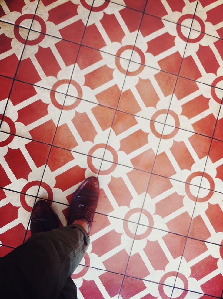Best Colour Orange Pink Red Tiles Images On Pinterest