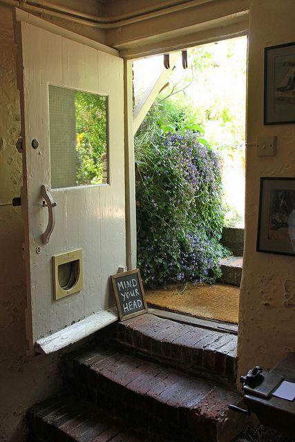 Kitchen door, Monk's House (home of Virginia Woolf), Sussex, England