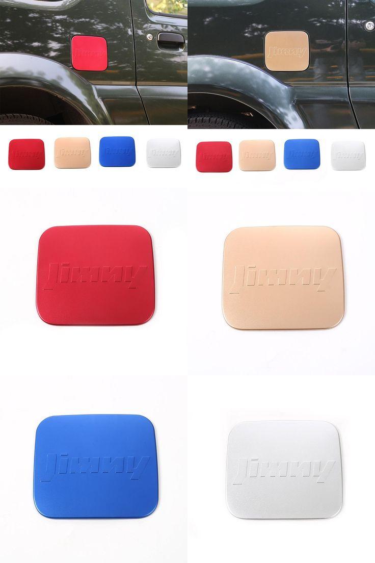 [Visit to Buy] 2016 Fashionable Aluminium Fuel Door Gas Tank Cap Cover for Suzuki Jimny Gas Door Replacement 4 Colors Available #Advertisement