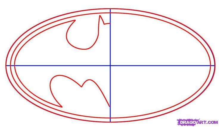 batman symbol template | how to draw batman logo step 2