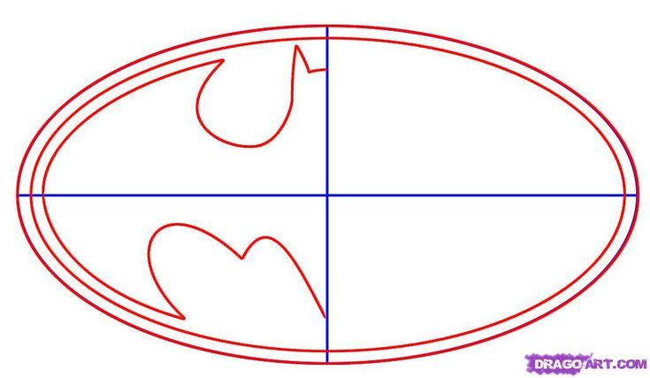 batman symbol template | how to draw batman logo step 2