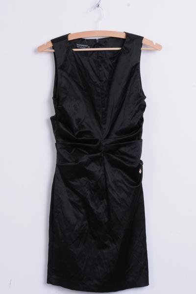 Rinascimento Womens XS Dress Black Sleeveless Knee Lenght - RetrospectClothes