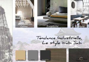 Moodboard - Déco, planche d'ambiance, tendance industrielle, style Wabi Sabi, réalisation well-c-home