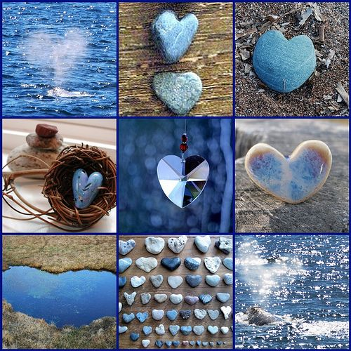 Blue, brown and white    ♥ More Hearts ♥ by LHDumes, via Flickr  I like this - would be pretty in a frame