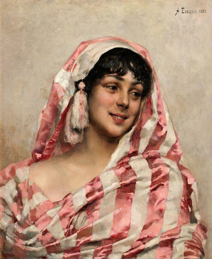 Retrato de una joven,1880