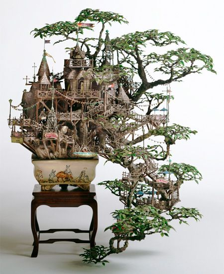 Takanori Aiba`s Amazing Tree Houses: Bonsai Trees, Bonsai Treehouse, Tree Houses, Art, Takanoriaiba, Bonsaitrees, Takanori Aiba, Garden, Treehouses