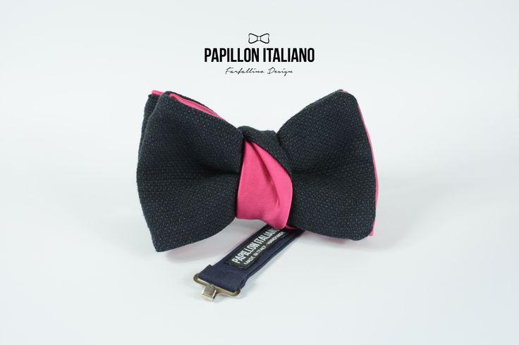 Papillon Blu e Fucsia - Papillon Italiano #handmade - #madeinitaly - #modauomo - #shop online - #fattoamano - #accessorio #uomo. #papillon #HandMade #BowTie #Design #Fashion #Men #blu #Outfit #Papillonitaliano #shoponline #negozio