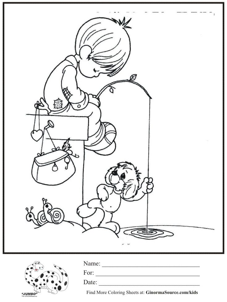 full pageprecious moments coloring pages - photo#42