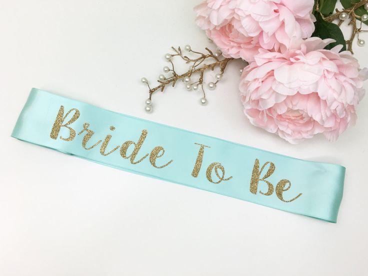 Bride To Be Sash Glitter Bachelorette By NelaAndCompany