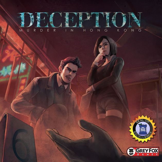 Deception: Murder in Hong Kong is a game of deduction and deception for 4-12 players that plays in about 20 minutes.  In the game, players take on the roles of investigators attempting to solve a murder case – but there's a twist. The killer is one of the investigators! Each player's role and team are randomly assigned at the start of play and include the unique roles of Forensic Scientist, Witness, Investigator, Murderer, and Accomplice. While the Investigators attempt to d...