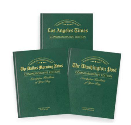 Anniversary Custom Newspaper Book