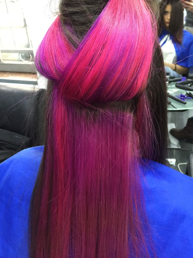 #doblecolor #fuchsia&violet #fuchsia #violet #viola #hairstyle #haircut #doppiocolore #womenstyle #girlcut #cut #color #danilo