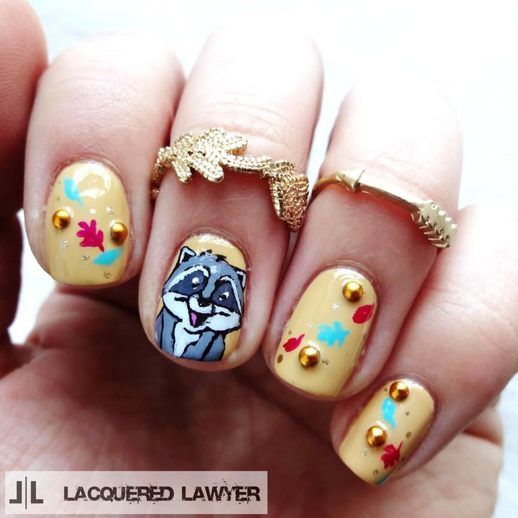 @lacqueredlawyer's Pocahontas #nails are adorable! Get inspiration for your next #manicure from your favorite Disney movie