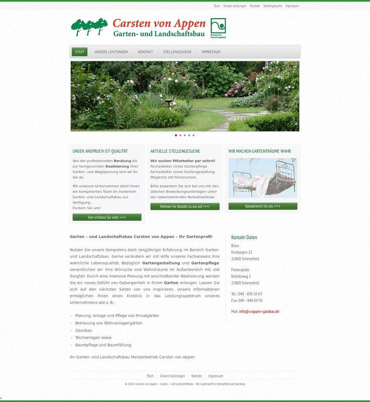 Popular WordPress site cvappen galabau de uses the Office wp theme