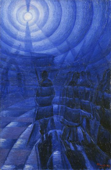 Name: Solidity of Fog / Artist: Luigi Russolo / Date: 1912 / Material: Oil on canvas / Size: 100 cm x 65 cm / Location: Peggy Guggenheim Collection, Venice, Italy