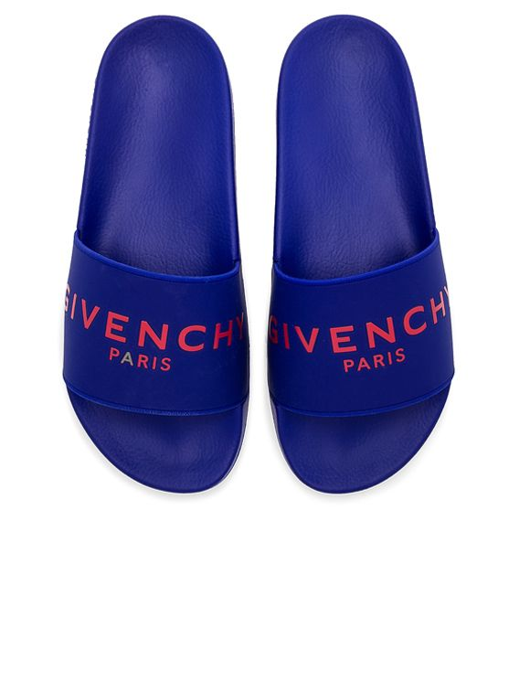 ceb3866cb768 Givenchy Logo Slides in Blue   Red