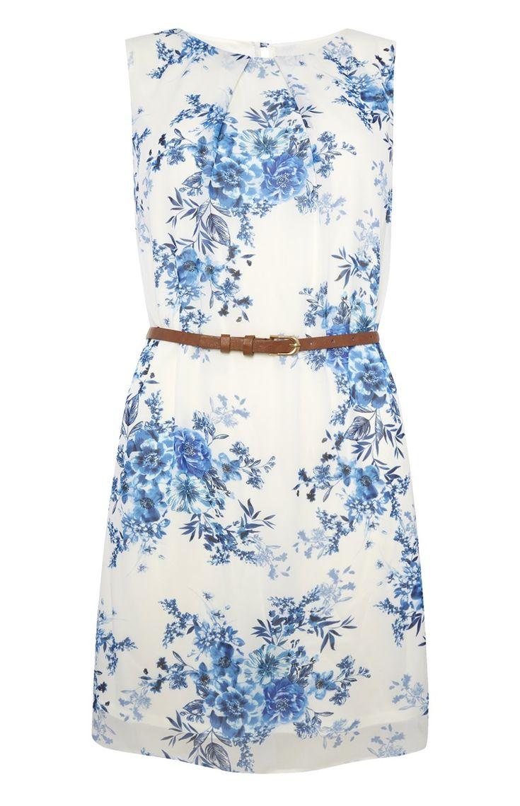 Primark - Mouwloos jurkje van chiffon met bloemenprint