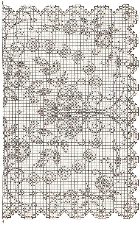 """Блог """"tgkh"""". Схема скатерти для вязания крючком (прямоугольная для столовой) 3 схемы, Блог пользователя tgkh"""