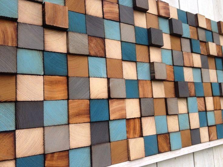 Art murale en bois - bois Art - Art bois de récupération par WallWooden sur Etsy https://www.etsy.com/fr/listing/245912004/art-murale-en-bois-bois-art-art-bois-de
