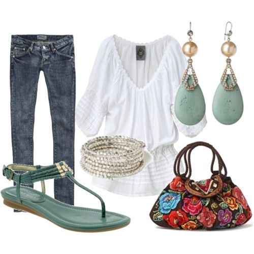 love those earrings!Shoes, Fashion, Skinny Jeans, Style, Clothing, White Shirts, Spring Outfit, Bags, Earrings
