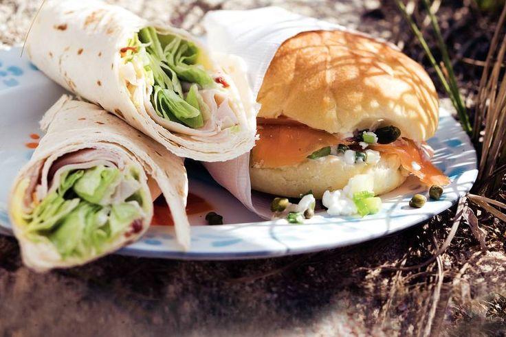 Lunchbol met zalm en hüttenkäse - Recept - Allerhande