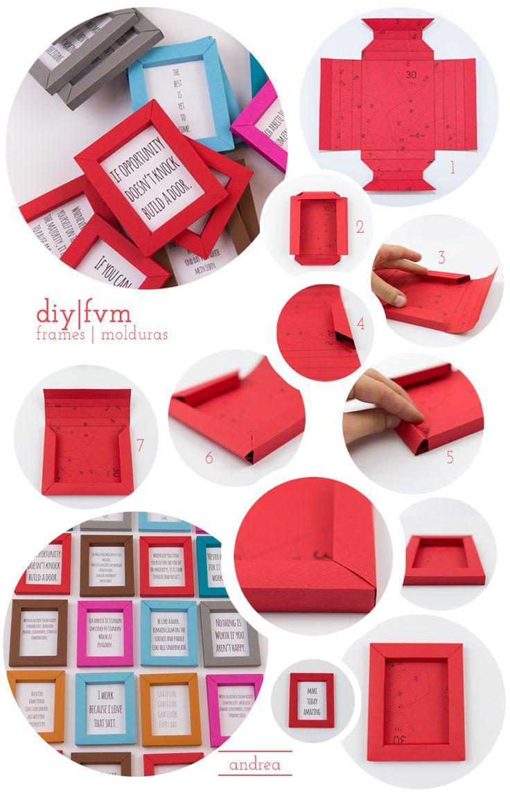 andrea: diy | molduras em papel