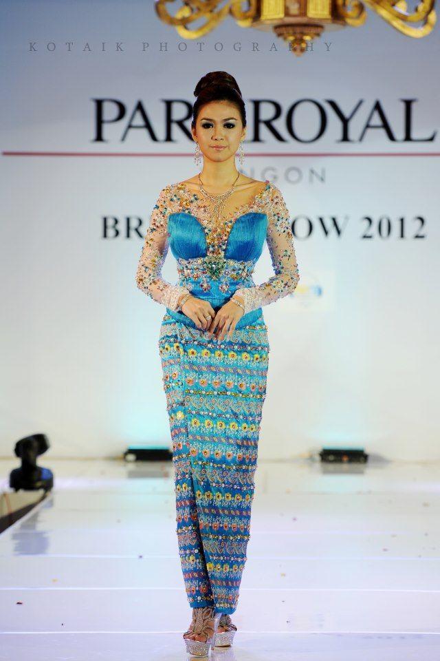 Modern day Burmese fashion.