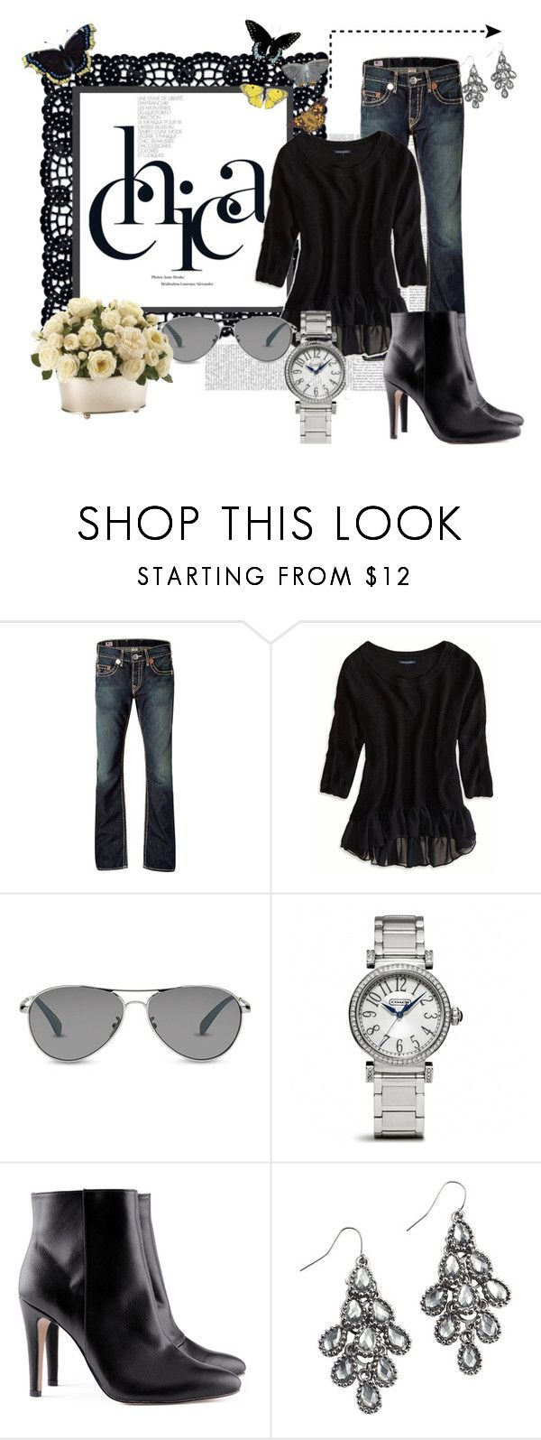 """Untitled #11"" by amy-phillips ❤ liked on Polyvore featuring True Religion, American Eagle Outfitters, TOMS, Coach, H&M, Pier 1 Imports and Ethan Allen"