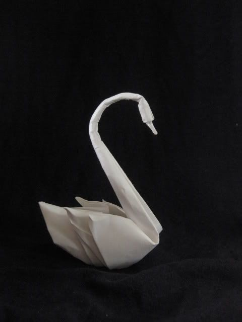 how to make a swan paper